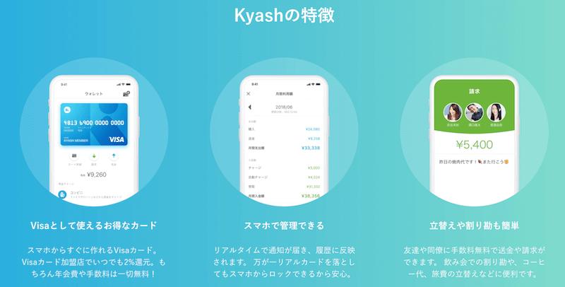 Kyash連携で還元率3.5%を実現